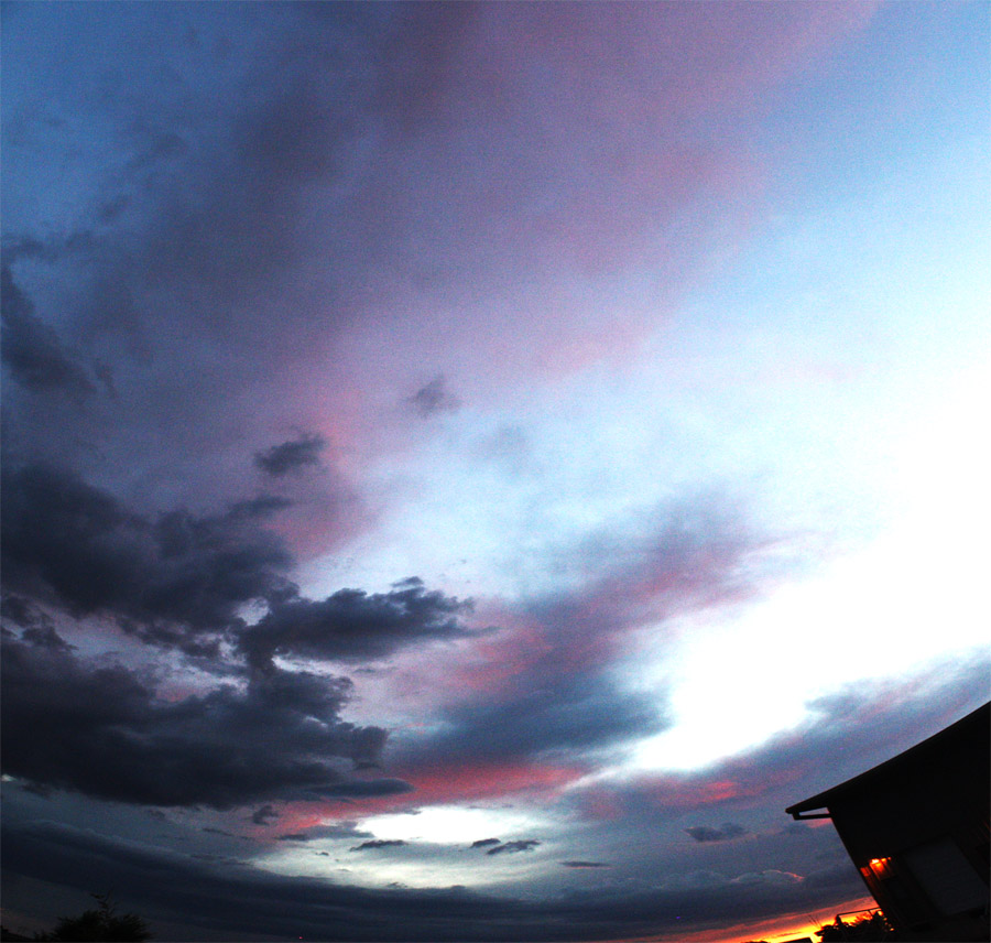 Sunsets and clouds at my former place in Santa Fe.